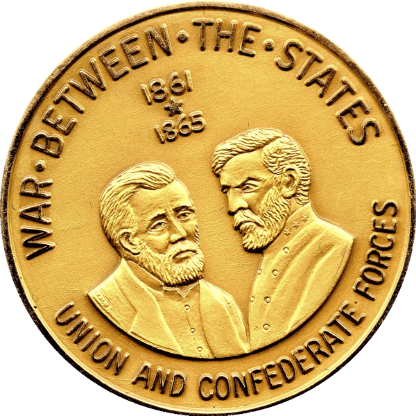 Check it out 1861-1961 Centennial of the Civil War Gold Medal
