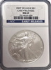 (#191) 2007-W Eagle S$1. Early Releases. NGC MS69