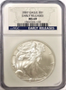 (2) 2007 Eagle S$1 Early Releases. NGC MS69