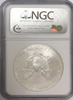 (#205) 2008 Eagle S$1. Early Releases. NGC MS69