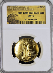 2009 ultra High Relief NGC MS70
