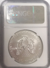 (#10) 2015 Eagle S$1. First Day of Issue. NGC MS70
