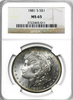 (20) Mixed Dates Morgan Dollars NGC MS65 (Common Dates)