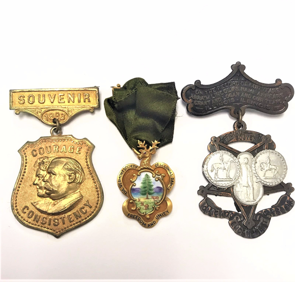 3 Piece Set of Historical Badges. RARE