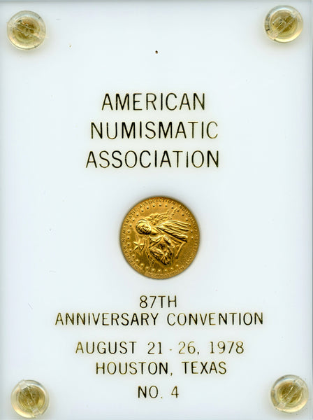 American Numismatic Association. 87Th Anniversary Convention Gold Medal
