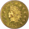 1872 California Gold $1.00 BG-1207  PCGS MS62 Round Large Head Indian