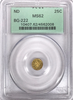 No Date - California Gold 50c BG-222 PCGS MS62 OLD GREEN HOLDER Round Small Head Liberty