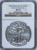 (#203) Burnished Silver Eagle. 2015-W Eagle S$1. NGC MS70