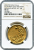 1988 California Gold Discovery Day Gold Medallion  NGC MS 66