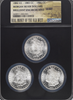 Morgan Silver Dollars  1882-CC, 1883-CC & 1884-CC  Carson City Set