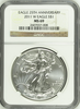 (#199) Eagle 25Th Anniversary. 2011-W Eagle S$1. NGC MS69