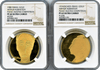 Israel. Arthur Rubinstein Piano Competition Gold Medals by Picasso 1974 NGC PF63 Ultra Cameo & 1980 NGC PF64 Ultra Cameo