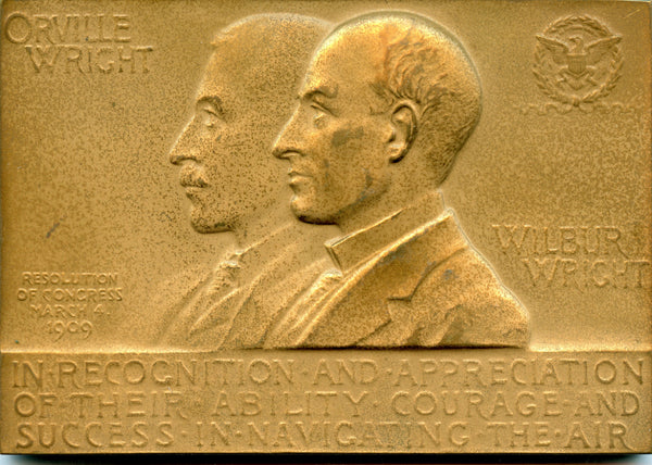 Wilbur and Orville Wright Congressional Medal 1909