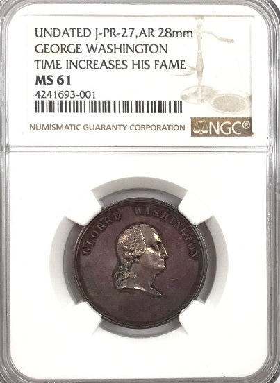 "U.S. Mint George Washington NGC MS61 ""1000/1000"" Pure Silver "" Ultra High Relief Bust"" ""14 Total Graded - All Grades NGC/PCGS"