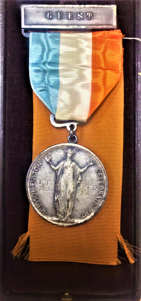 1909 The Hudson - Fulton Celebration OFFICIAL GUEST MEDAL With Original Box