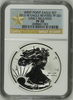 (#154) West Point Eagle Set. 2013-W Eagle Reverse PF S$1. Early Releases. NGC PF70
