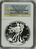 (#157) West Point Eagle Set. 2013-W Eagle S$1. Early Releases. NGC SP69 Enhanced Finish
