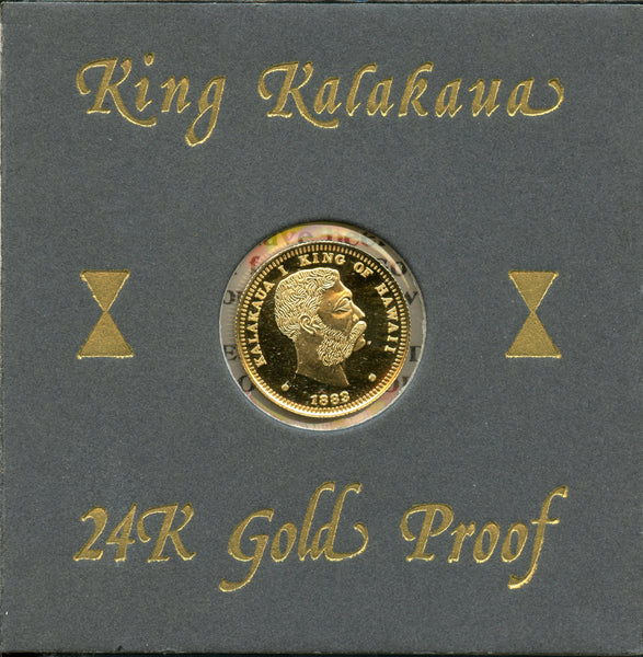 1981 King Kalakaua Quarter Crown (#407 of 1000)
