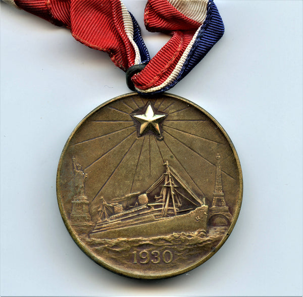 1930 Gold Star Pilgrimage Medal. Bronze with Gold Star. 38.1 mm. By Tiffany & Co