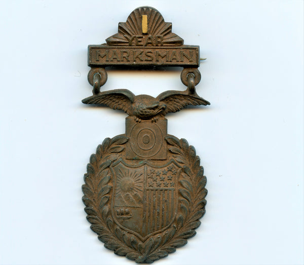 "Tiffany Badge ""Year Marksman"""