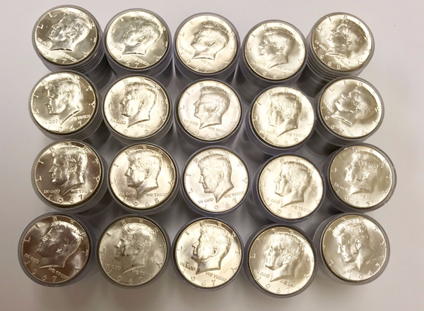 400 Kennedy Half Dollars (40% Silver) Brilliant Uncirculated