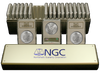 1 Box (20 Coins) Morgan Silver $1.00 All NGC MS65. At Least 10 Different Dates And/or Mint Marks