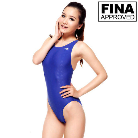921-2 Yingfa Sharkskin Fina Approved Swimsuit - Blue