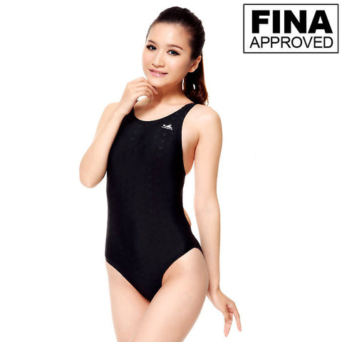 921-1 Yingfa Sharkskin Fina Approved Swimsuit - Black