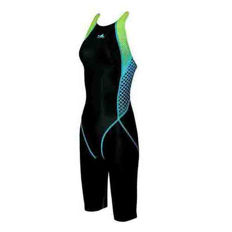 943-1 Yingfa Kneesuit - Black w/ Blue and Green