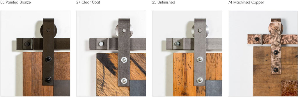 Leatherneck Barn Door Hardware Finish Options 2