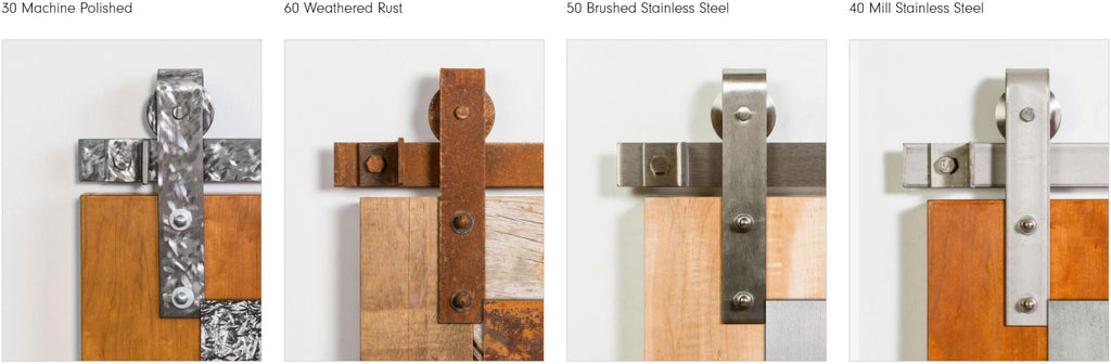 Leatherneck Barn Door Hardware Finish Options 3