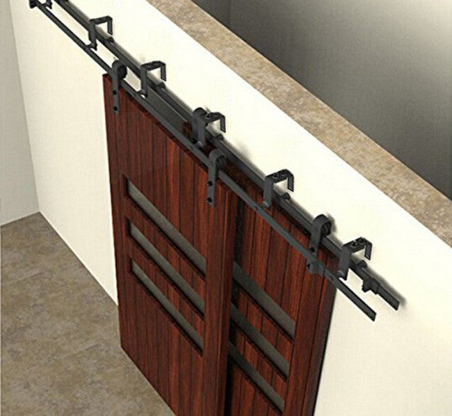 sliding rolling bypass barn door hardware kit