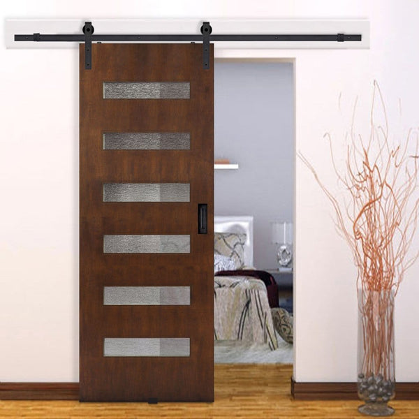 Barncraft Beverly Barn Door With Glass Lites Solid Flush