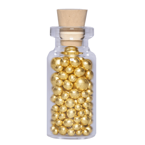 Artisan Gold Leaf Sugar Pearls - product packaging
