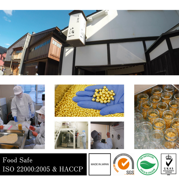 Head quarters, food safe facilities, iso 22000 & haccp, made in japan, sgs certificate, no artificial colours and flavours, ukas certified