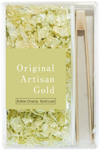 edible champagne gold leaf flakes - original artisan gold