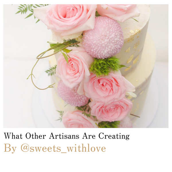 sweets_withlove in sydney bakes pink and gold luxury dream cake