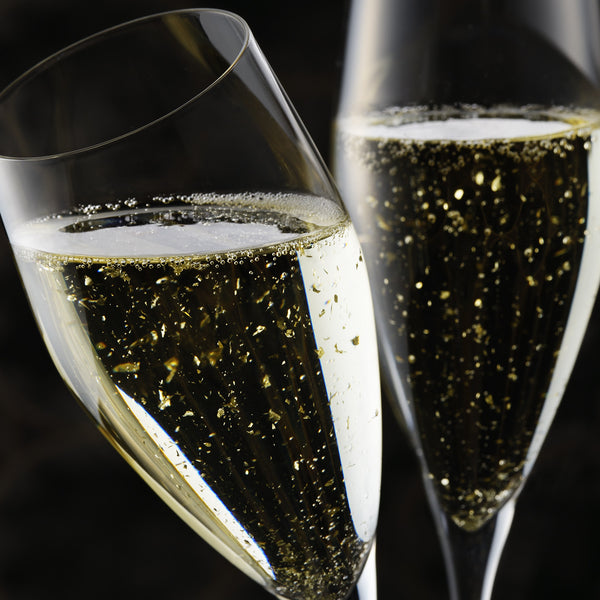 champagne drinks - create this look - edible artisan gold leaf stardust - Original Artisan Gold