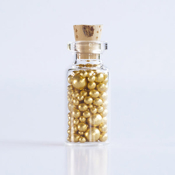Edible Gold Leaf - Sugar Pearls - Cake decoration supplies - Original Artisan Gold