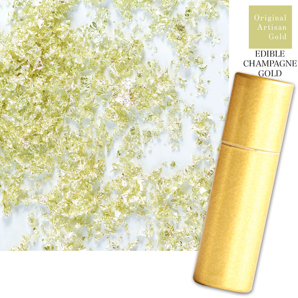 Edible Artisan Champagne Gold Leaf Powder –  Original Artisan Gold
