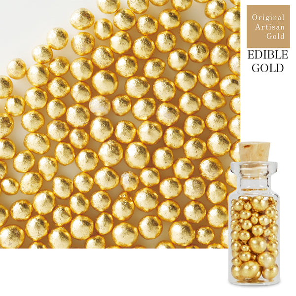 Original Artisan Gold edible gold leaf sugar pearl cachous