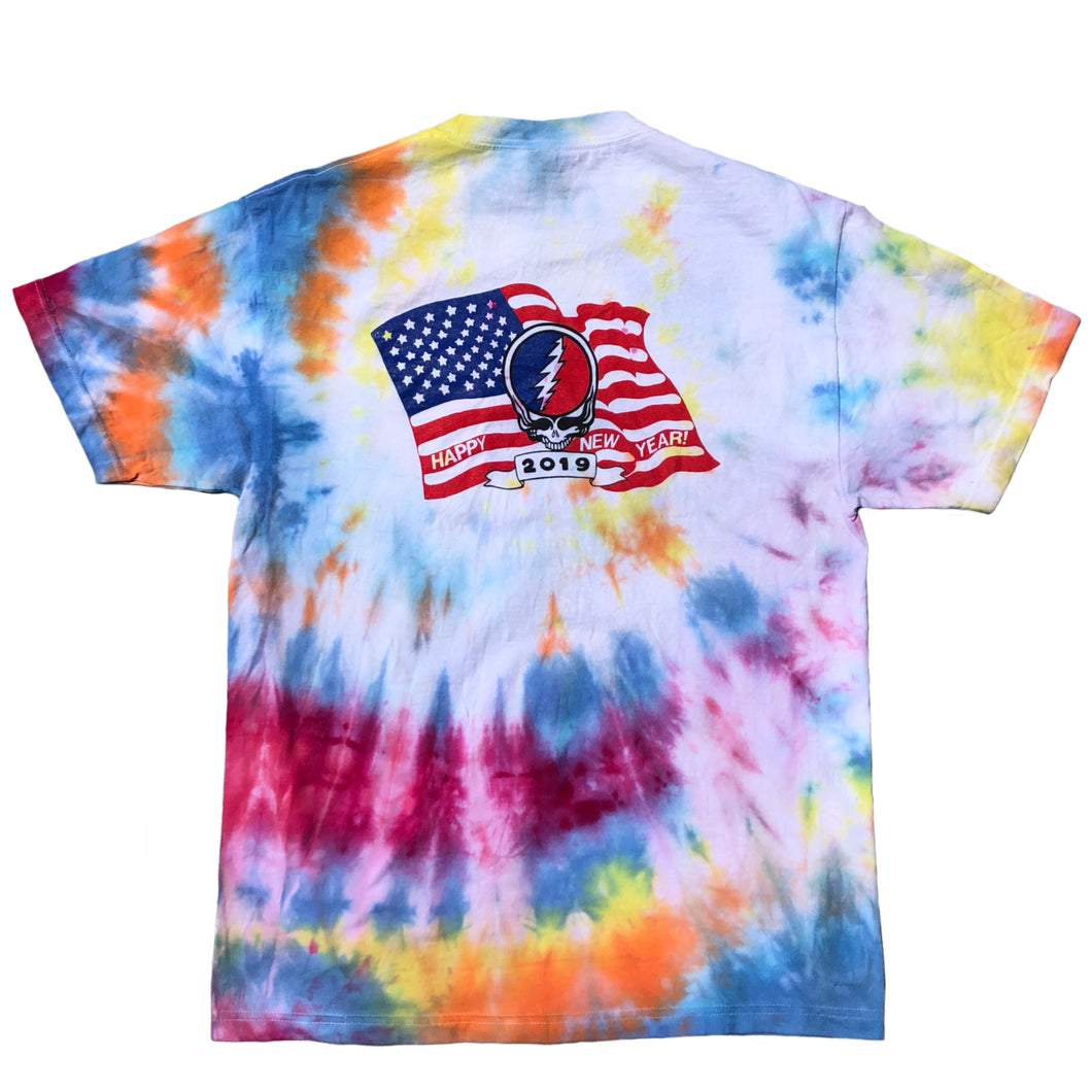 Head for Peace / Happy New Year Tie Dye Pocket T Shirt