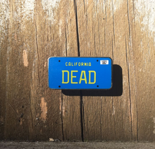 DEAD 1974 California License Plate Enamel Pin