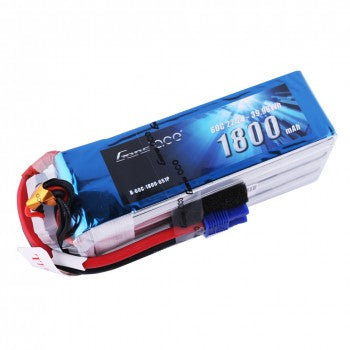 Gens Ace 22.2V 60C 6S 1800mAh Lipo Battery Pack with EC3 Plug