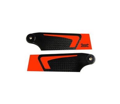 1st Tail Blades CFK 90mm (Orange)