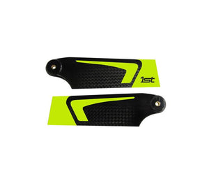 1st Tail Blades CFK 95mm (Yellow)
