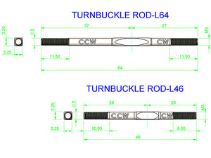 LOGO 700 - Turnbuckle Servo Rod, Set