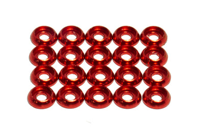 Washer M1.6, Red 20Pcs