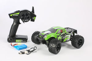 R18MT Monster Truck RTR, 1/18 Scale, Brushed, w/ a Battery, and Charger