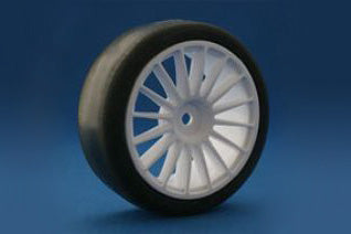 "Revolution ""Re 36"" - High grip belted tire with 16 spoke wheel and LT inner (Pre-glued)"
